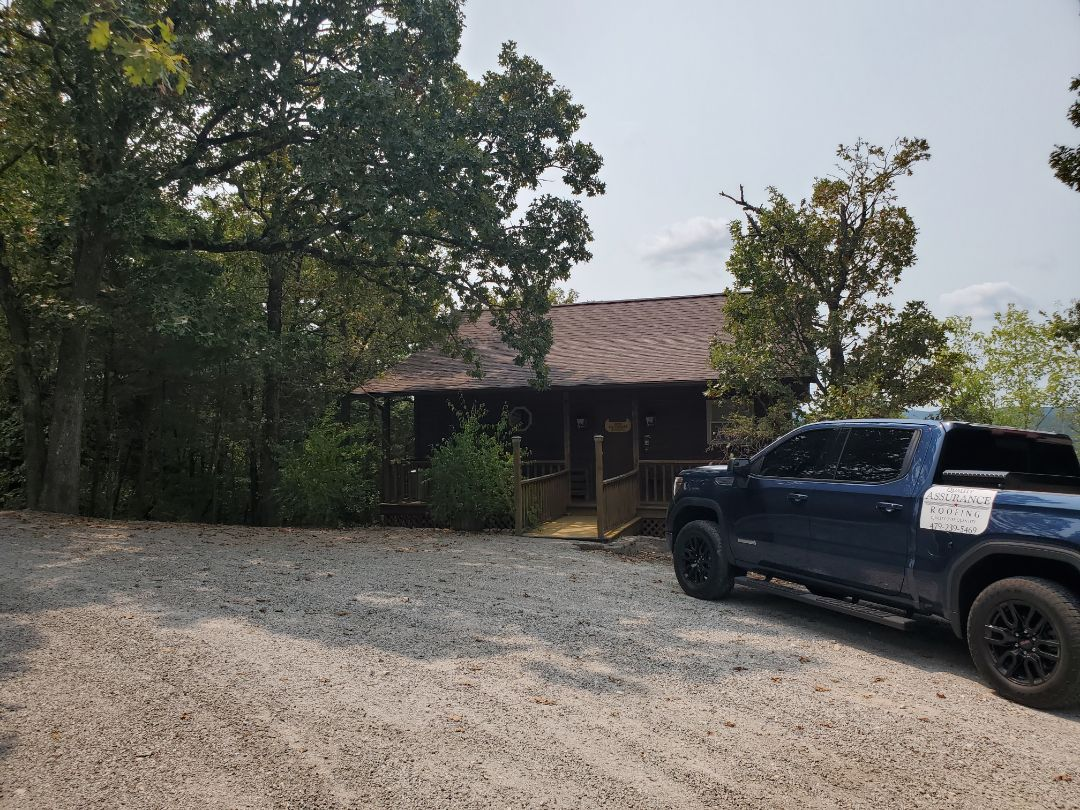 Eureka Springs, AR - Full roof replacement complete in Eureka Springs. This is a CertainTeed Landmark shingle (Burnt Sienna). Call Quality Assurance Roofing today.