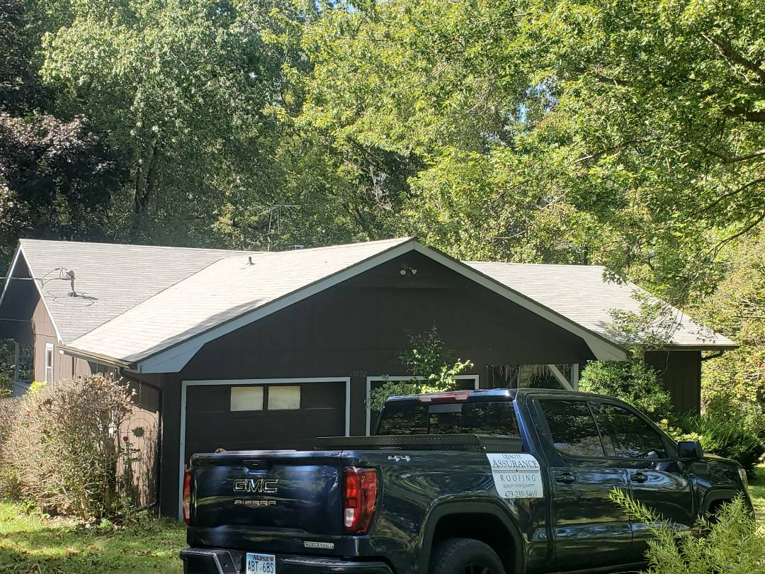 Garfield, AR - Full roof replacement complete in Garfield. This is an Owens Corning Supreme shingle (Estate Gray). Call Quality Assurance Roofing today.