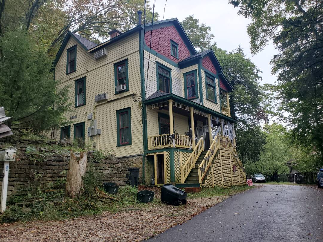 Eureka Springs, AR - Full roof replacement complete for the beautiful historic Peabody House Bed and Breakfast in Eureka Springs. This is a CertainTeed Landmark shingle (Moire Black). Call Quality Assurance Roofing today.