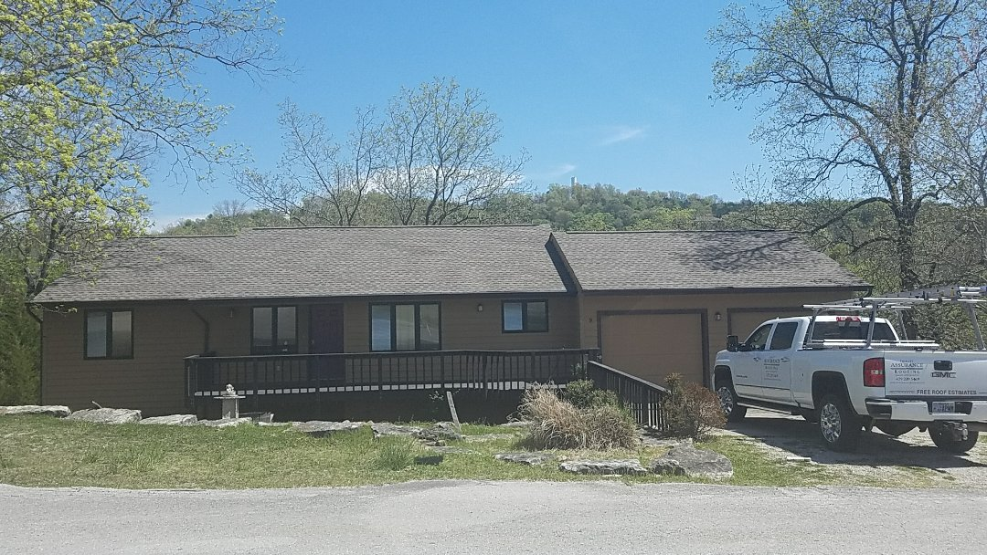Eureka Springs, AR - Replaced a roof in Holiday Island Ar with Gaf Weatherwood Hd