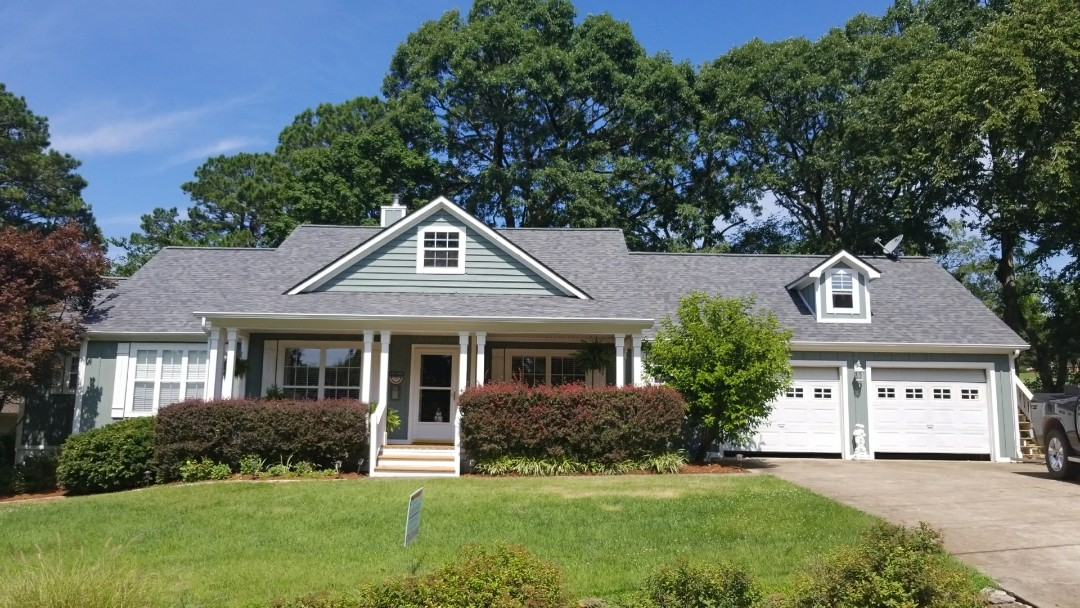 Holiday Island, AR - Replaced hail damaged roof with new Owens Corning Duration Slate Gray