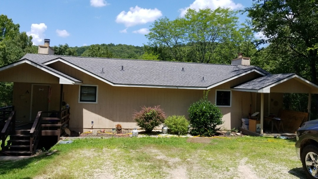 Holiday Island, AR - Replaced hail damaged roof with GAF Timberline HD Pewter Gray