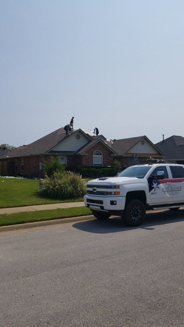 Bentonville, AR - Replacing a hail damaged  roof in Bentonville Ar with a Gaf Weatherwood HD shingle and Z Ridge.