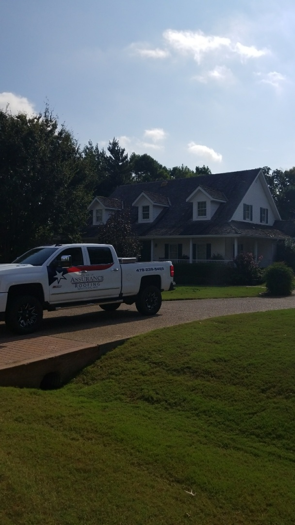 Rogers, AR - Quality Assurance Roofing is starting the install of DaVinci Shake roof after removing Cedar Shake and installing new plywood. Going the have the best roof by far in in Pleasant Grove neighborhood in Rogers Ar