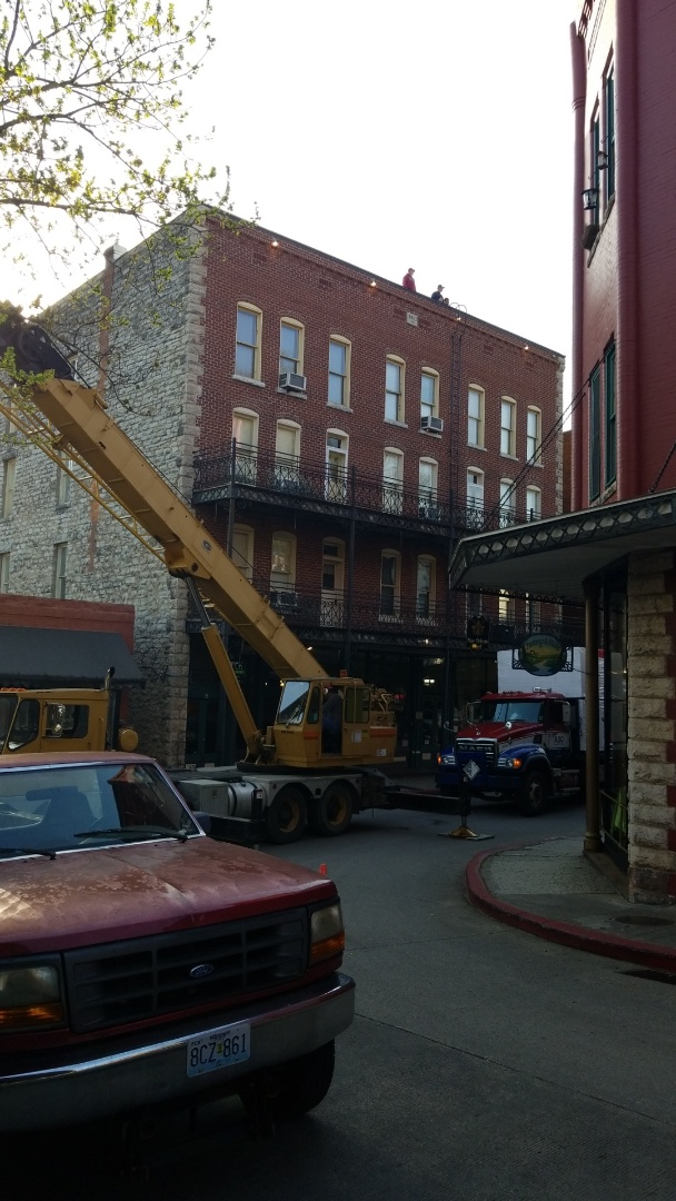 Eureka Springs, AR - Quality Assurance Roofing wants to thank New Orleans Hotel with there new Commercial Roof System from Firestone