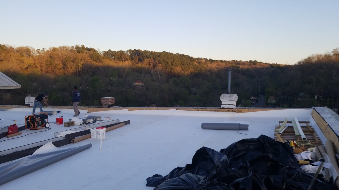 Eureka Springs, AR - Trust Quality Assurance Roofing with your commercial roofing needs. Were starting the detail work on the Historic New Orleans Hotel in Downtown Eureka Springs.