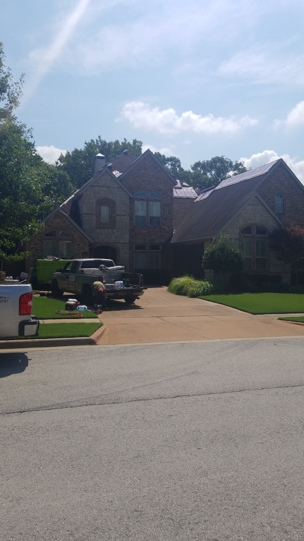 Rogers, AR - Quality Assurance Roofing is Starting the install of Owens Corning Total Roof Protection System in Pinnacle Area Rogers Ar. Roof was damaged from hail and we helped the Homeowners get the entire roof replaced by the Insurance Carrier. Call today for a Free Hail Inspection