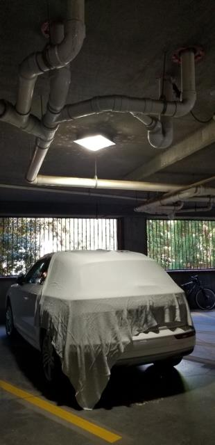 Atlanta, GA - Replaced 3 parking deck lights with new LED lights