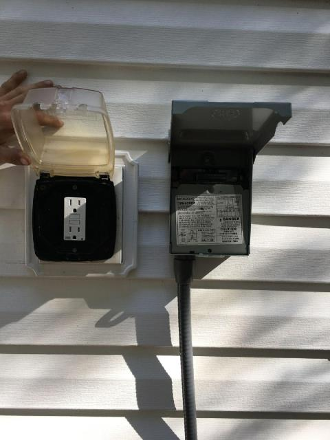 Newnan, GA - Replaced defective GFCI receptacle and installed new A/C disconnect