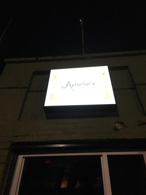 Atlanta, GA - Removed outdoor sign and re-installed on building at different location; installed 6 chandeliers inside building; repaired electrical issues with exterior sign on post