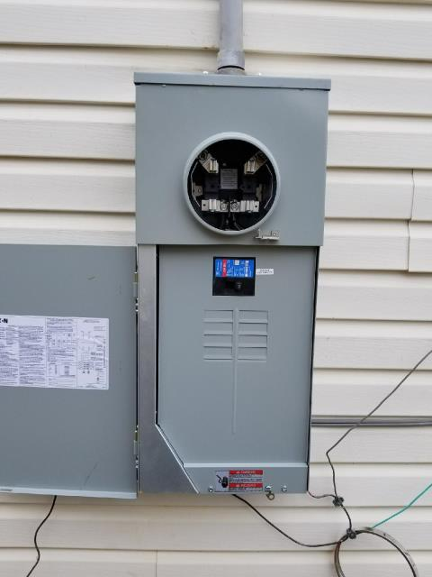 Grantville, GA - Removed damaged electrical meter enclosure and installed new meter enclosure