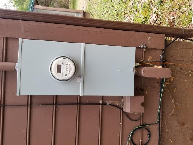 Grantville, GA - Removed old electrical meter box and electrical panel and installed new upgraded meter box and panel