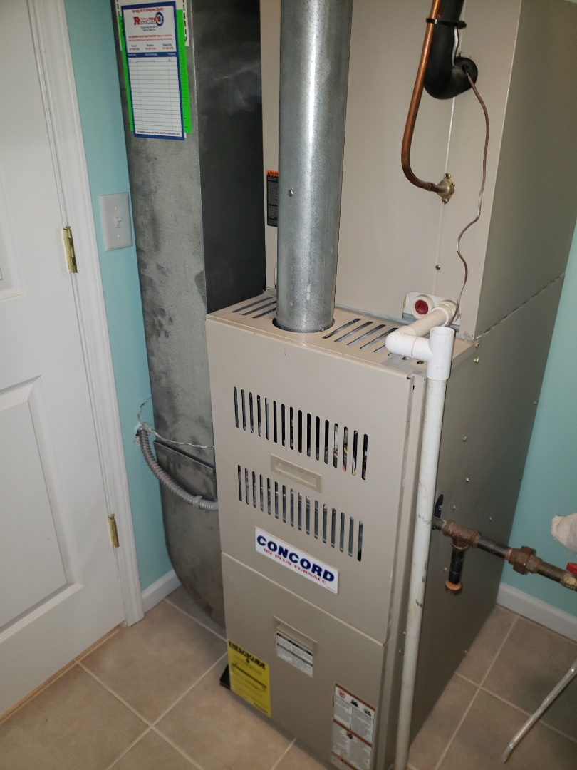 Howell, MI - Repair Concord gas furnace. Air flow problem. Utility diagnostic tune-up. Annual maintenance.