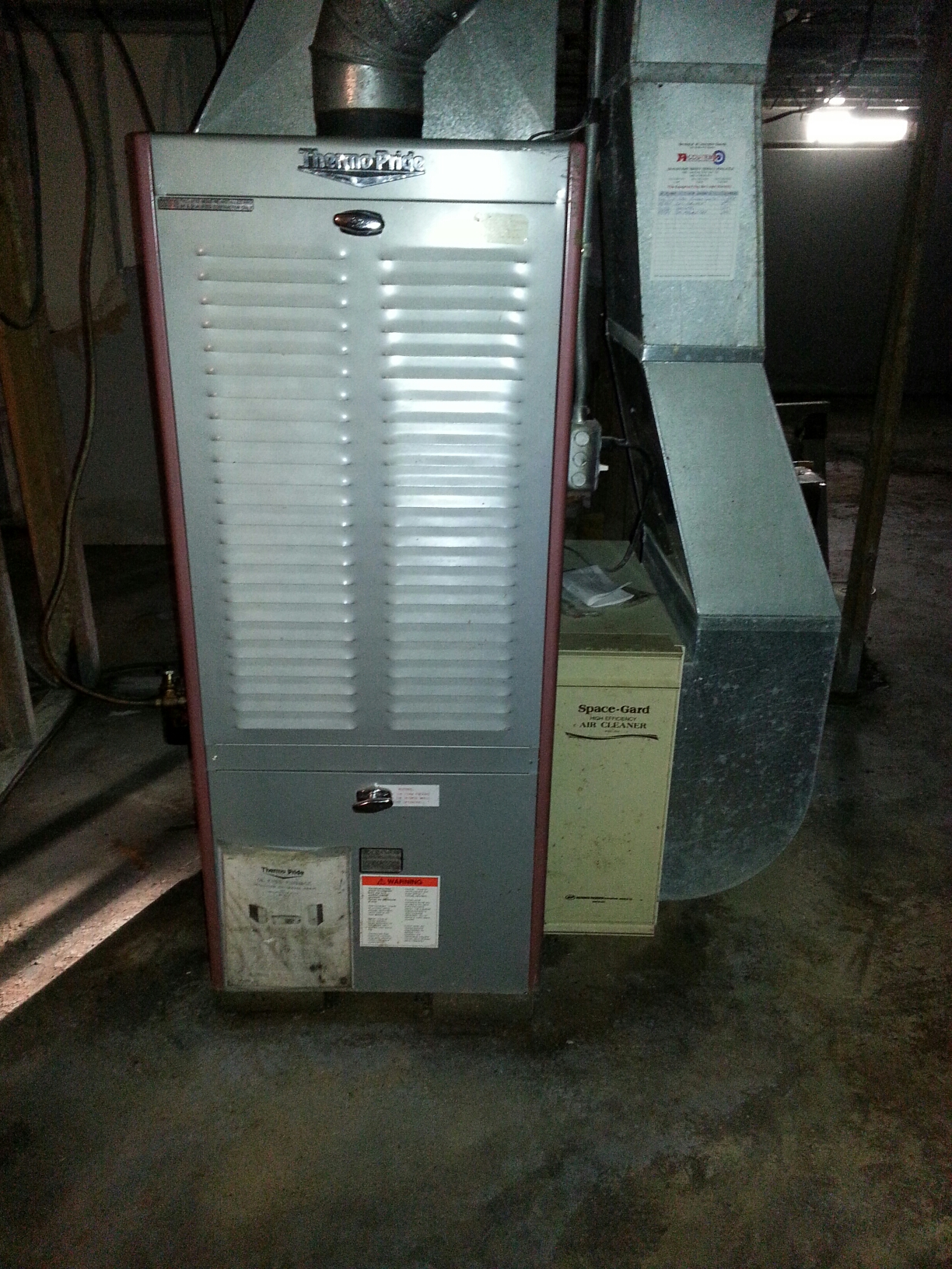 South Lyon, MI - Thermo-pride oil furnace tune-up.