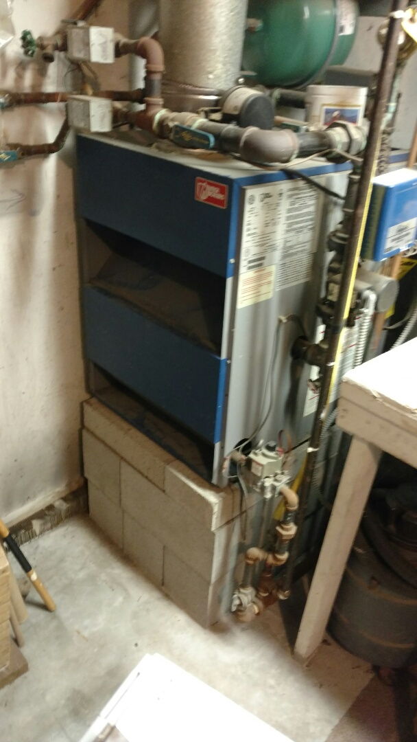 Whitmore Lake, MI - Did a yearly maintenance tune up on a Utica boiler system w/rebate. Changed the batteries on the thermostats and cleaned the burners tested the relief valve checked the manifold pressure inspected the expansion tank ran a combustion analysis, and this unit is good to go!