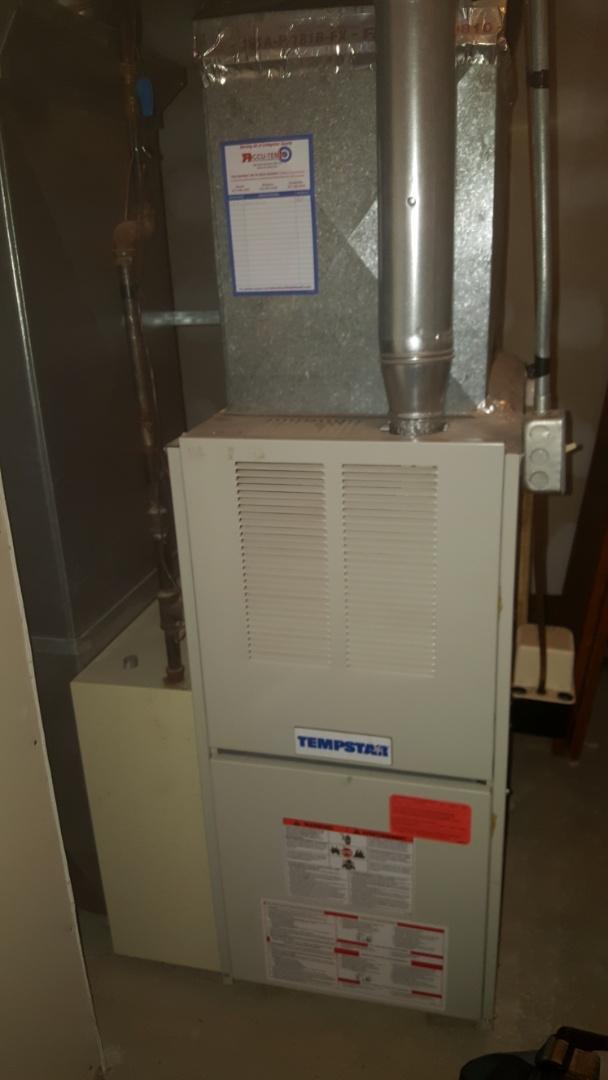 Perform annual furnace maintenance on tempstar propane gas furnace.