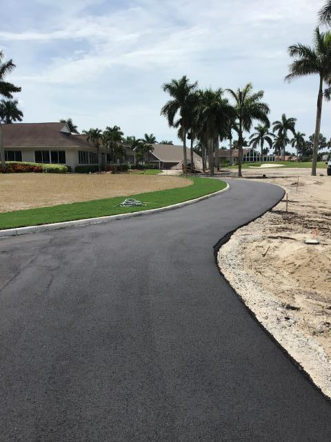 South Naples, FL - Paving in progress at royal wood country club