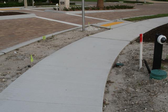 Naples, FL - Sidewalk work