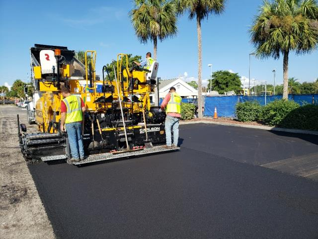 Fort Myers, FL - One of our crew's paving at our Starbucks project located Fort Myers, Florida