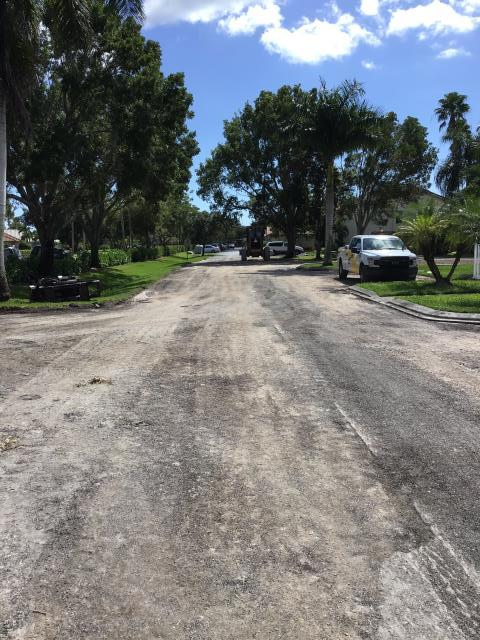 Naples, FL - Work in progress, getting the asphalt ready for a new pour.