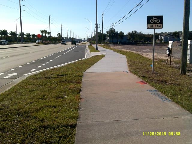 Naples, FL - Completed turn lane at Rushton Point.