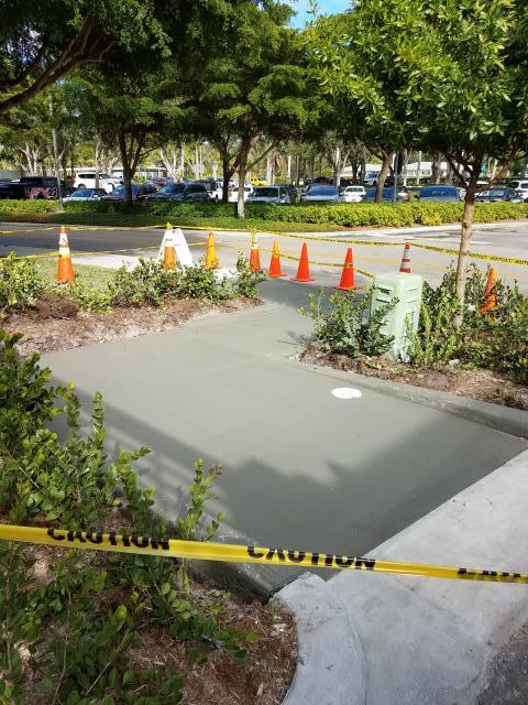 Naples, FL - Sidewalk work complete at Waterside Shops