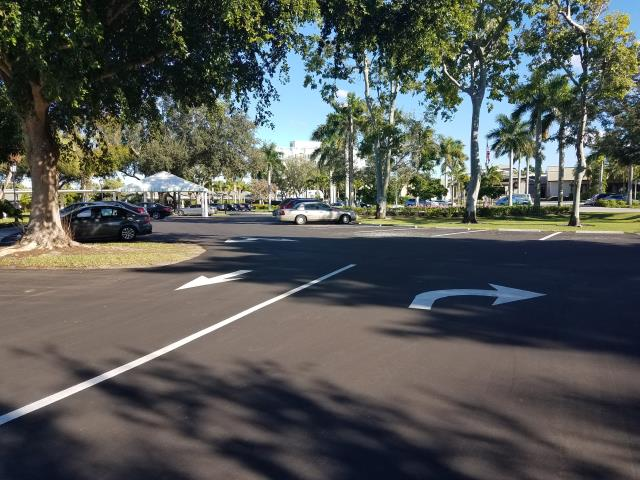 Naples, FL - Turn lane markings done in Moorings Park