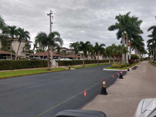 Marco Island, FL - Sealcoat and striping work completed at South Seas Club in Marco Island.