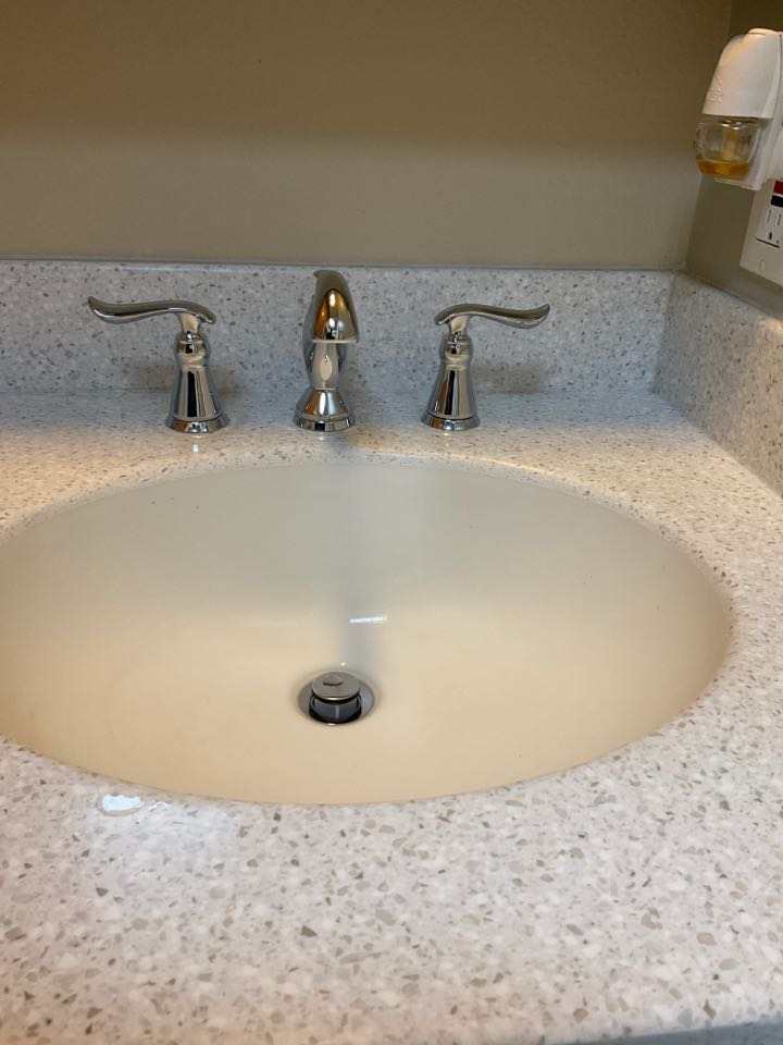 Installed customer supplied faucet