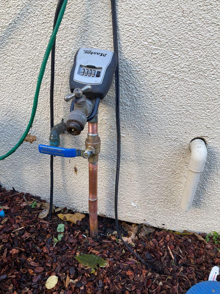 Leak search , water shutoff valve replacement