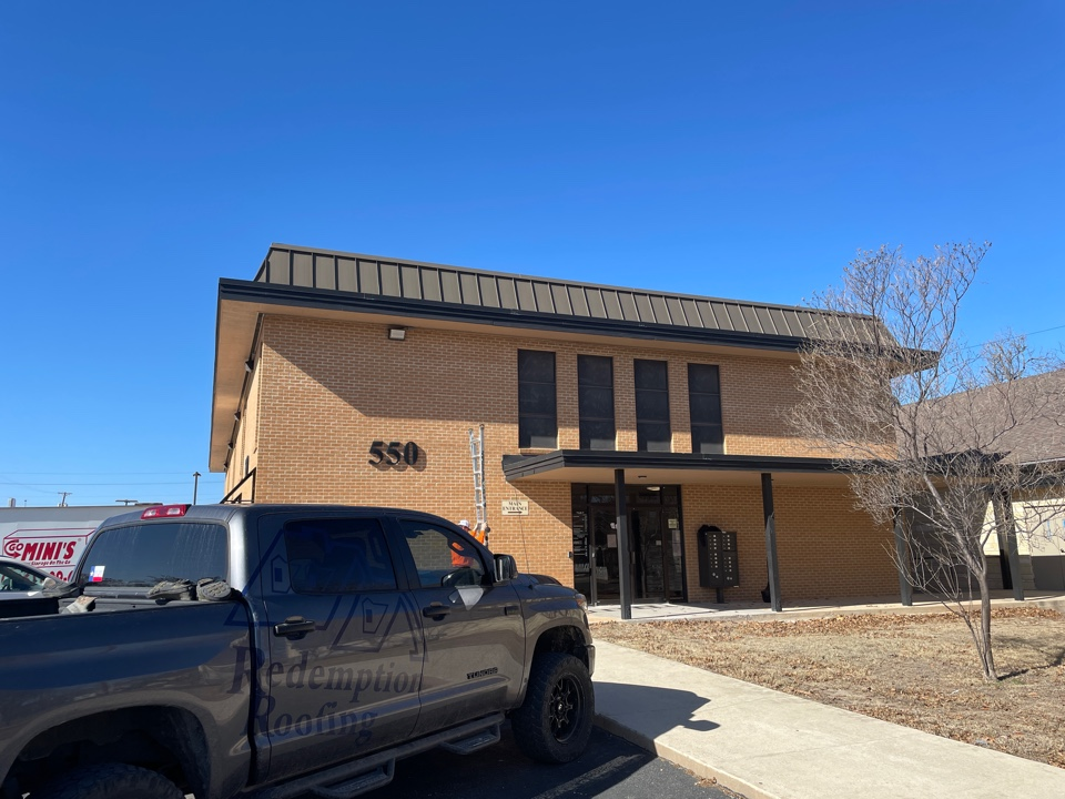 Kerrville, TX - Commercial roof no problem for Redemption Roofing.