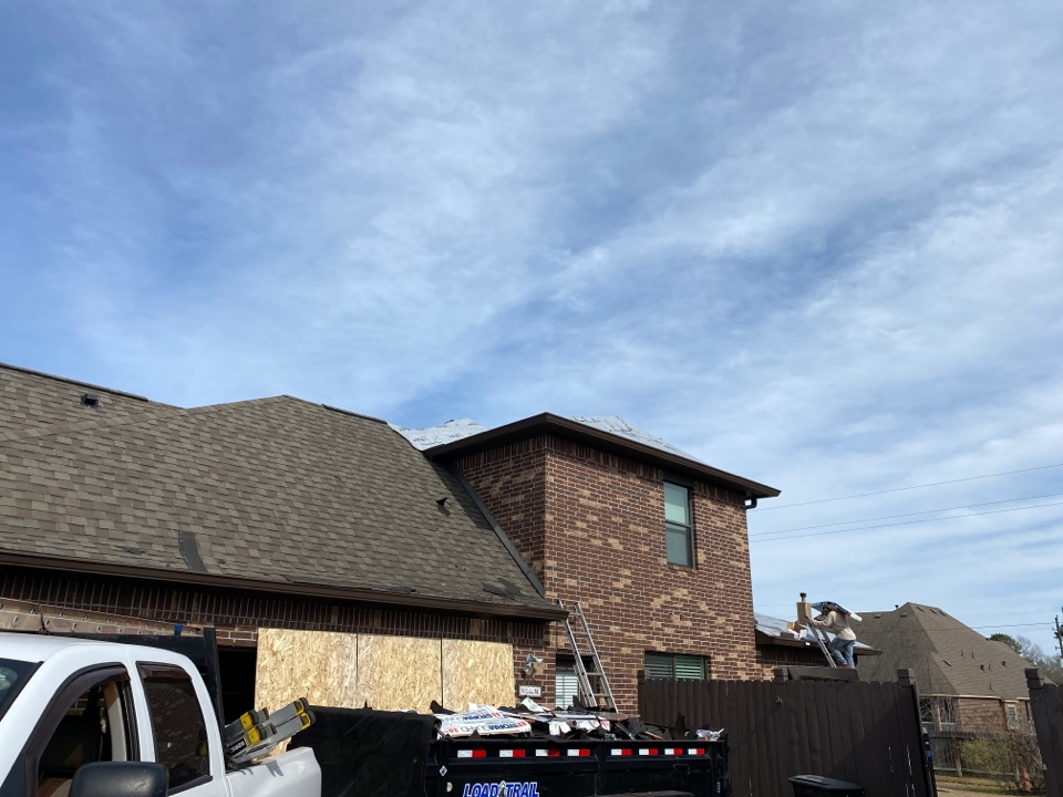 Magnolia, TX - Who's ready for a new roof! Hail damage is one of the most important things to check your roof for however it's difficult spot from the ground. Very often I'll get up on a roof a homeowner will tell me looks good to me and I get up there where I can see close up and we find out there's hail all over the roof in different spots. It's at this timeThat would get your insurance involved and we walk you through the process. Never hurts to check inspections are free just like smiles I give both!
