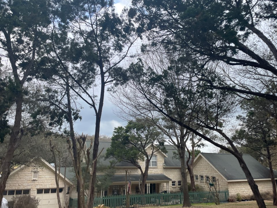 Austin, TX - In West Lake Hills inspecting hail damaged roofs. Free roof replacement and repair estimates.