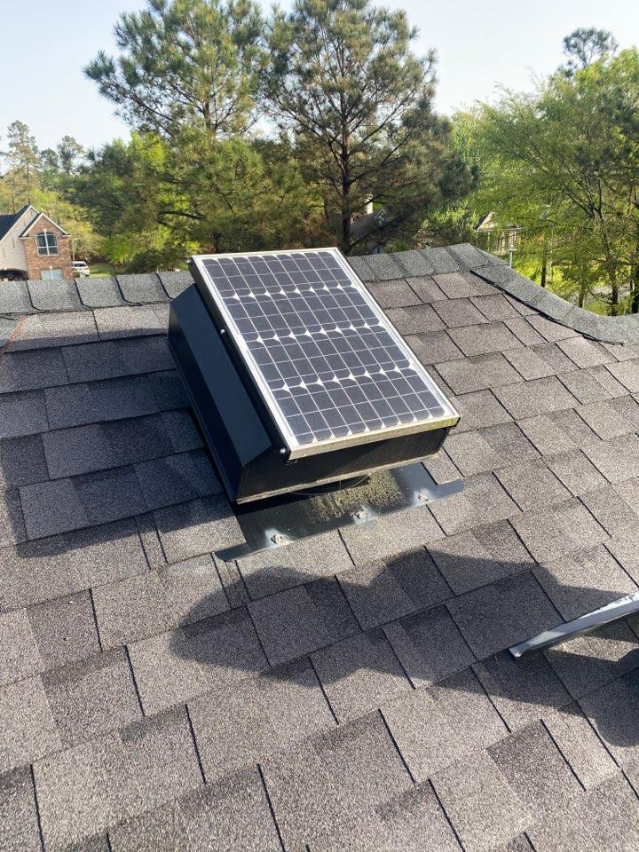Conroe, TX - Repairing solar vent