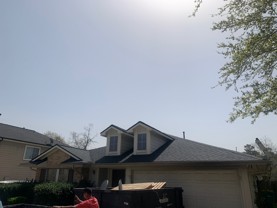 Conroe, TX - Another roof replaced by the insurance
