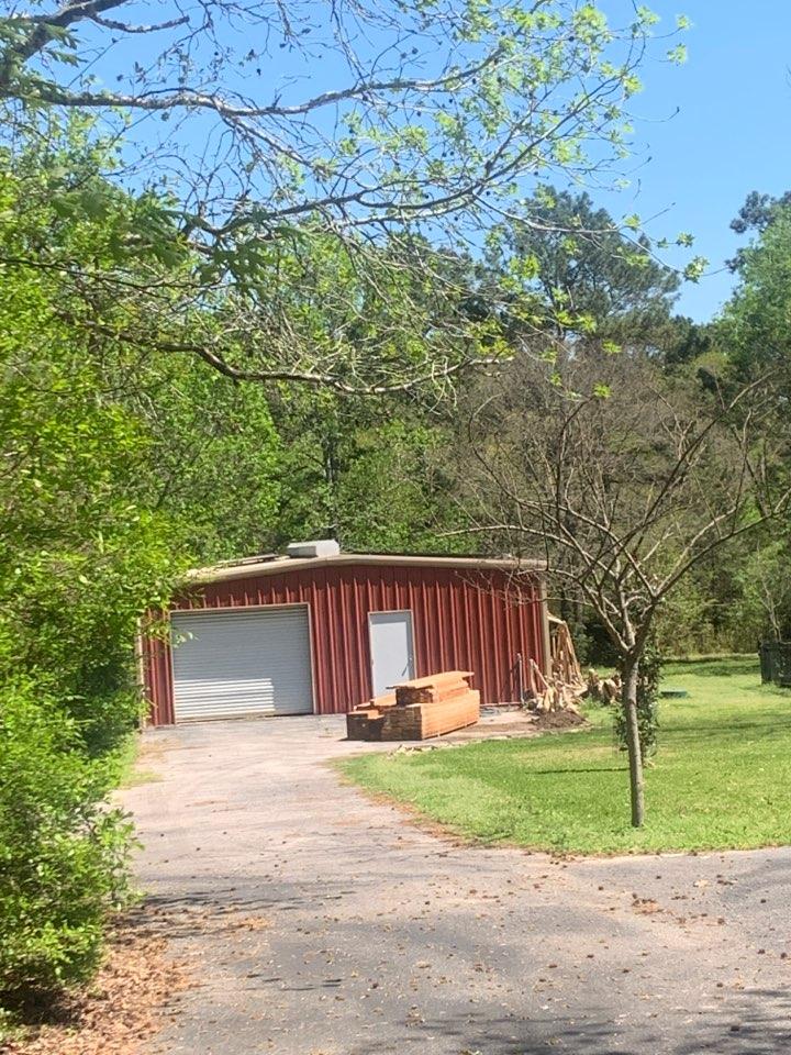 Montgomery, TX - Cedar gazebo a past Cust needed help with