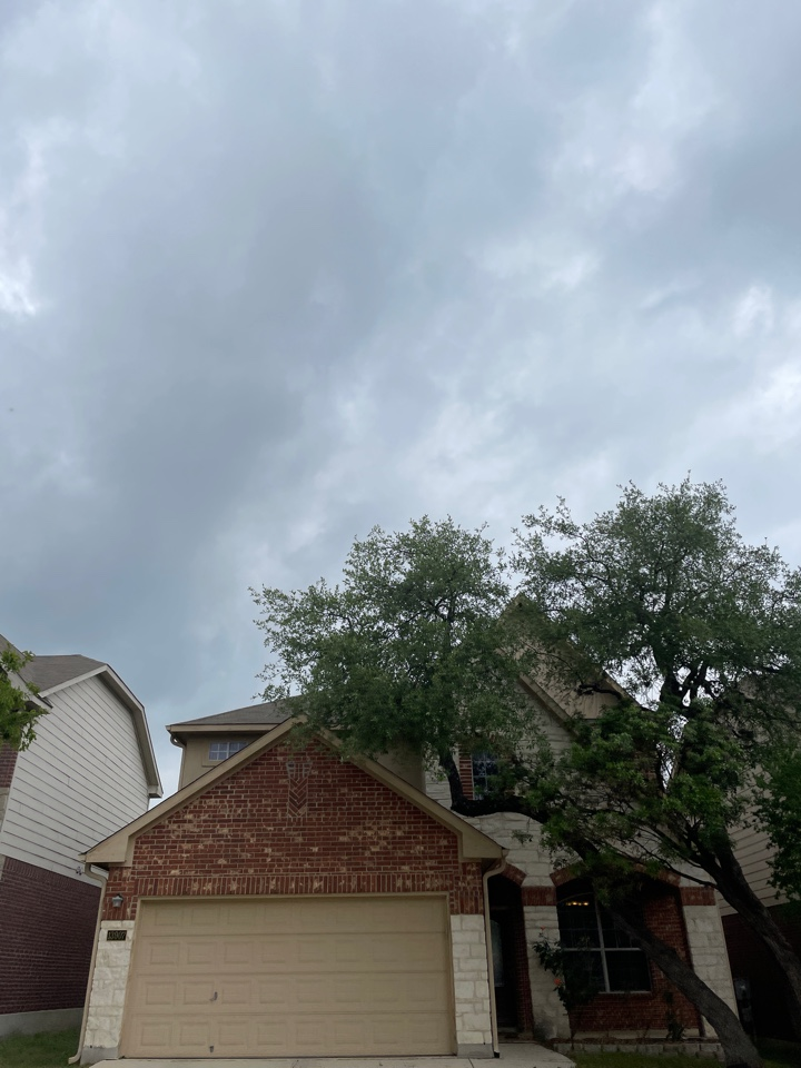 San Antonio, TX - Off Potranco Rd inspecting hail damaged roofs. Free roof inspections and estimates.
