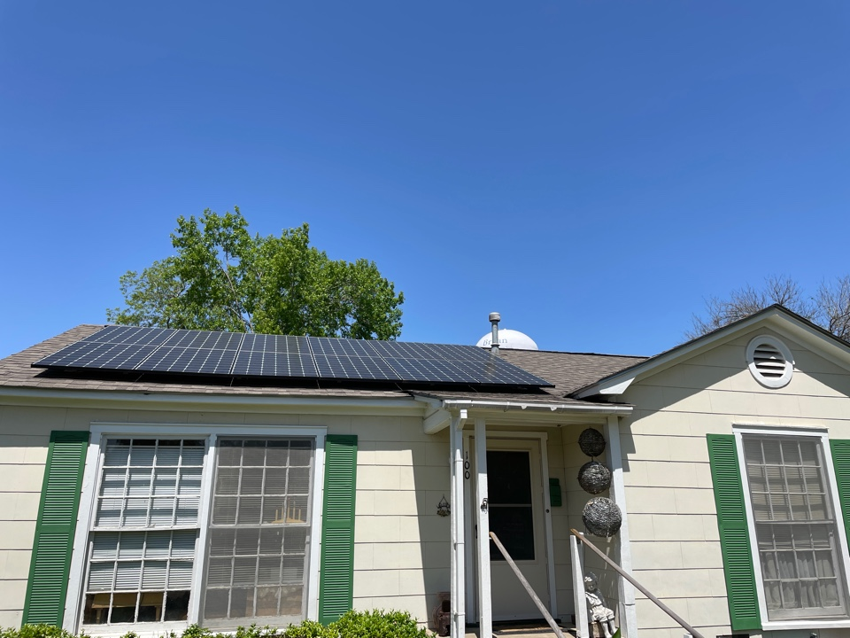 Bryan, TX - Hail damage on a solar equipped home? We are equipped to handle it! Call Redemption Roofing today!