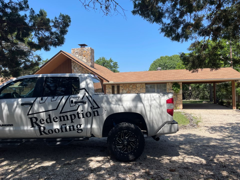 Ingram, TX - Hail damaged roofs around Ingram TX, call Redemption Roofing today for a free roof inspection.
