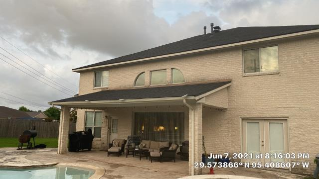 Pearland, TX - A new roof installed we were able to upgrade the pipe jacks, replace the bases for the water heater and HVAC unit and upgrade their ventilation system to a power vent solar unit that is self-contained, lifetime warrantied, and greatly improves that temperature differential in the attic reducing the conduction of heat.
