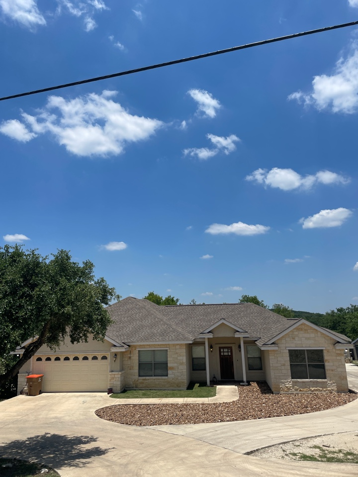 Fischer, TX - Hail damaged roofs around Canyon Lake Tx,call Redemption Roofing today for a free roof inspection.