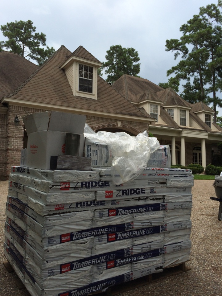The Woodlands, TX - Another quality GAF Timberline HD roof replacement underway