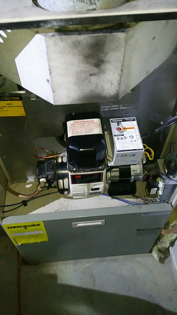 Glenmoore, PA - Replacing a burner motor for an oil furnace in glenmoore
