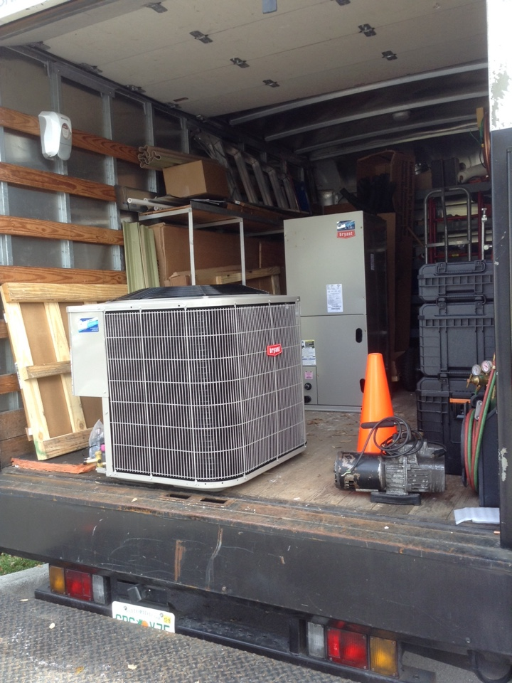 Gulfport, FL - New BRYANT central split air conditioning  system replacement Gulfport Fl. Install new Bryant 16 seer single stage system .   Air Zero provides free new central home air conditioning / heat pump system replacement installation price cost quote estimate , air conditioner repair service and preventative maintenance ac tune up and warranty work repair on all brands Trane , Lennox , Bryant , Goodman , Rheem , Carrier , York and more of home hvac units in Gulfport, FL 33707