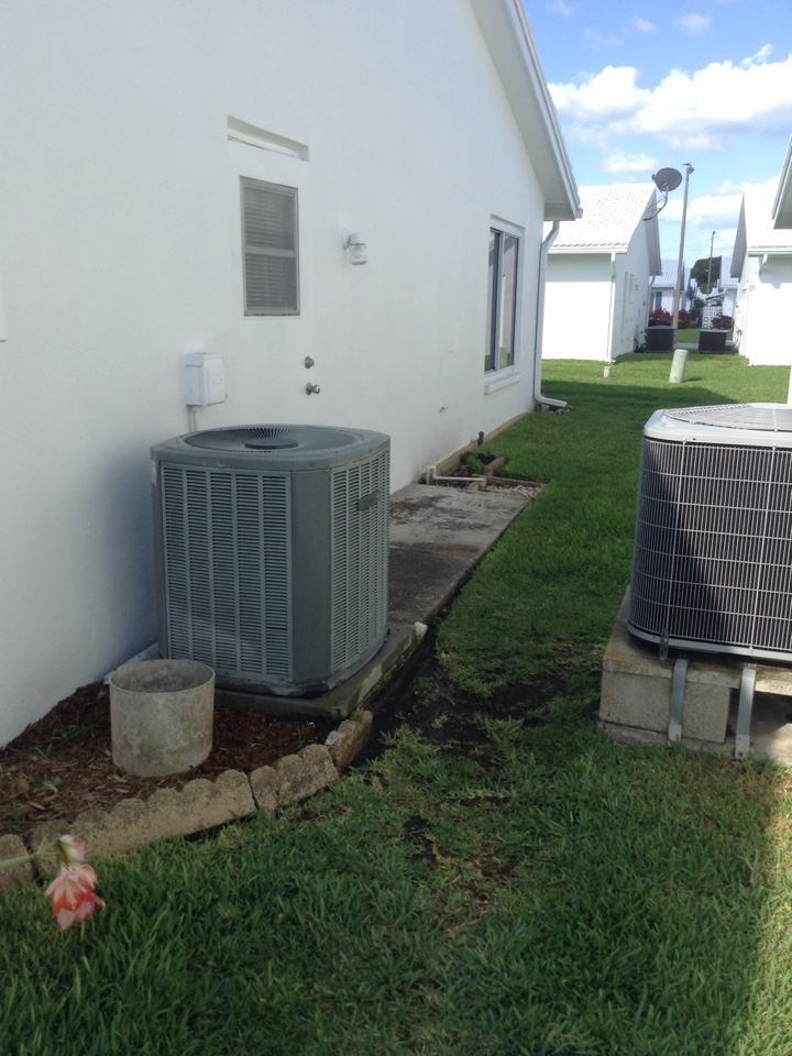 Pinellas Park, FL - Trane heat pump ac system ac tune up procedure.