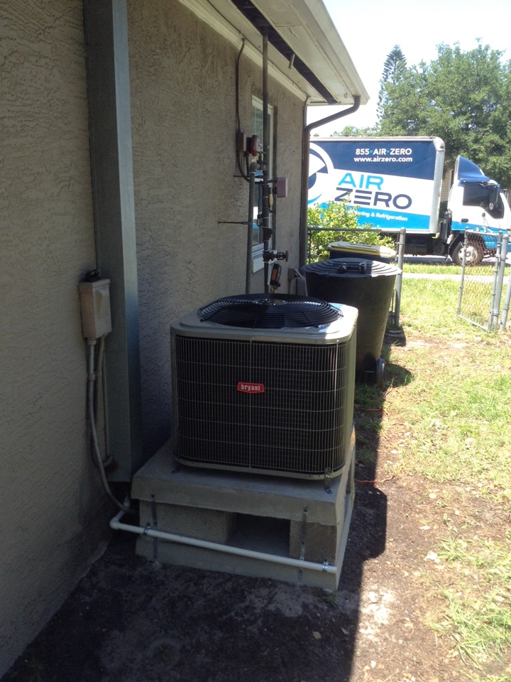 Clearwater, FL - New Bryant ac central split ac system installation procedure.