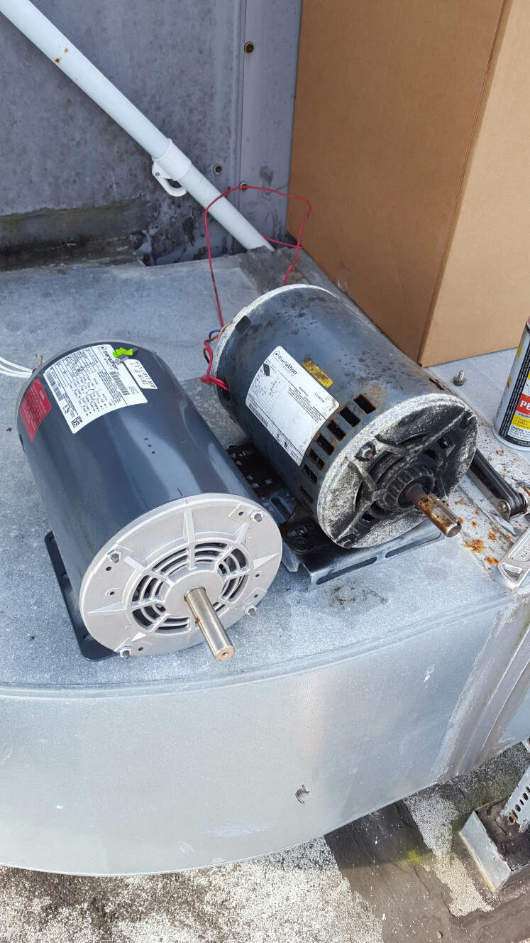 Indian Rocks Beach, FL - Marathon electric indoor blower motor replacement on rooftop package icp ac unit.