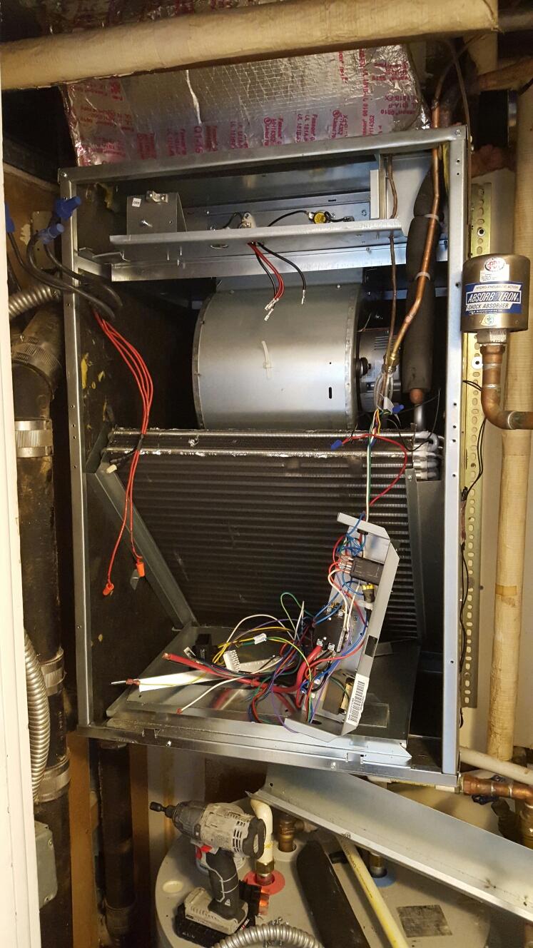 Tampa, FL - Goodman air handler , evaporator blower motor replacement.