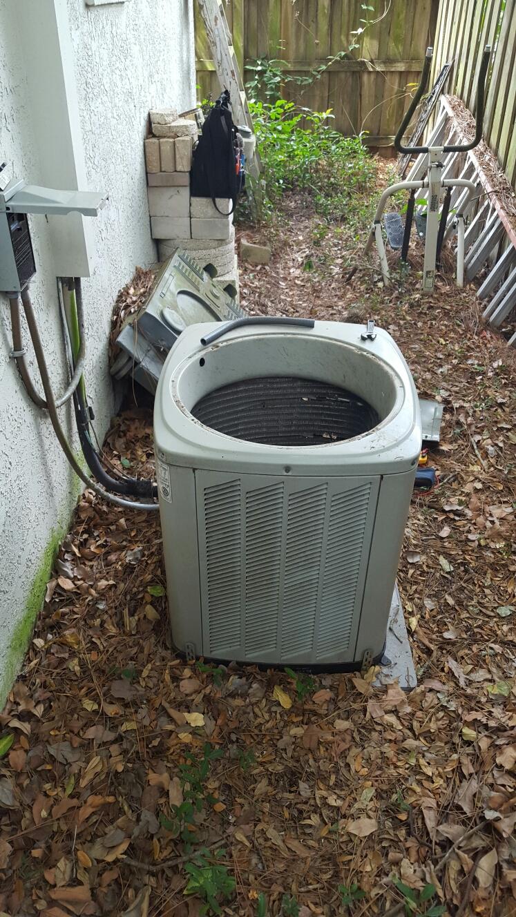 Largo, FL - American standard condenser fan motor replacement procedure.