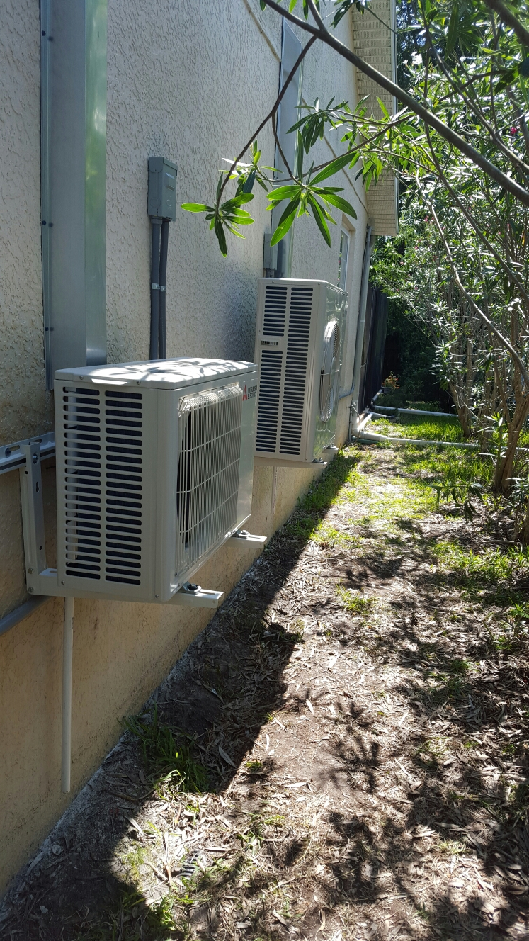 Safety Harbor, FL - Mitsubishi mini split ac system installation.